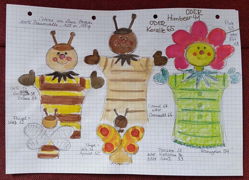 Drei Neue Blumenbunt Handpuppen Für Die Anna Häkeln Spezial Frühjahr
