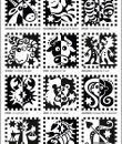 Übersicht aller 12 Sternzeichenmotive von Raphaela Blumenbunt